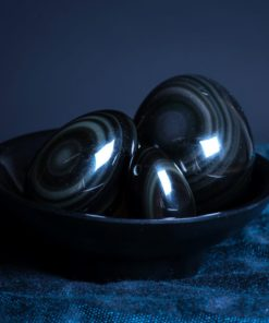 Obsidian Yoni Eggs